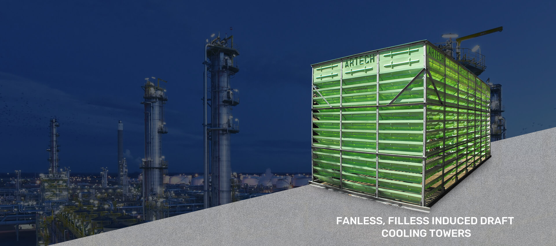 FRP INDUCED DRAFT COUNTER FLOW COOLING TOWER